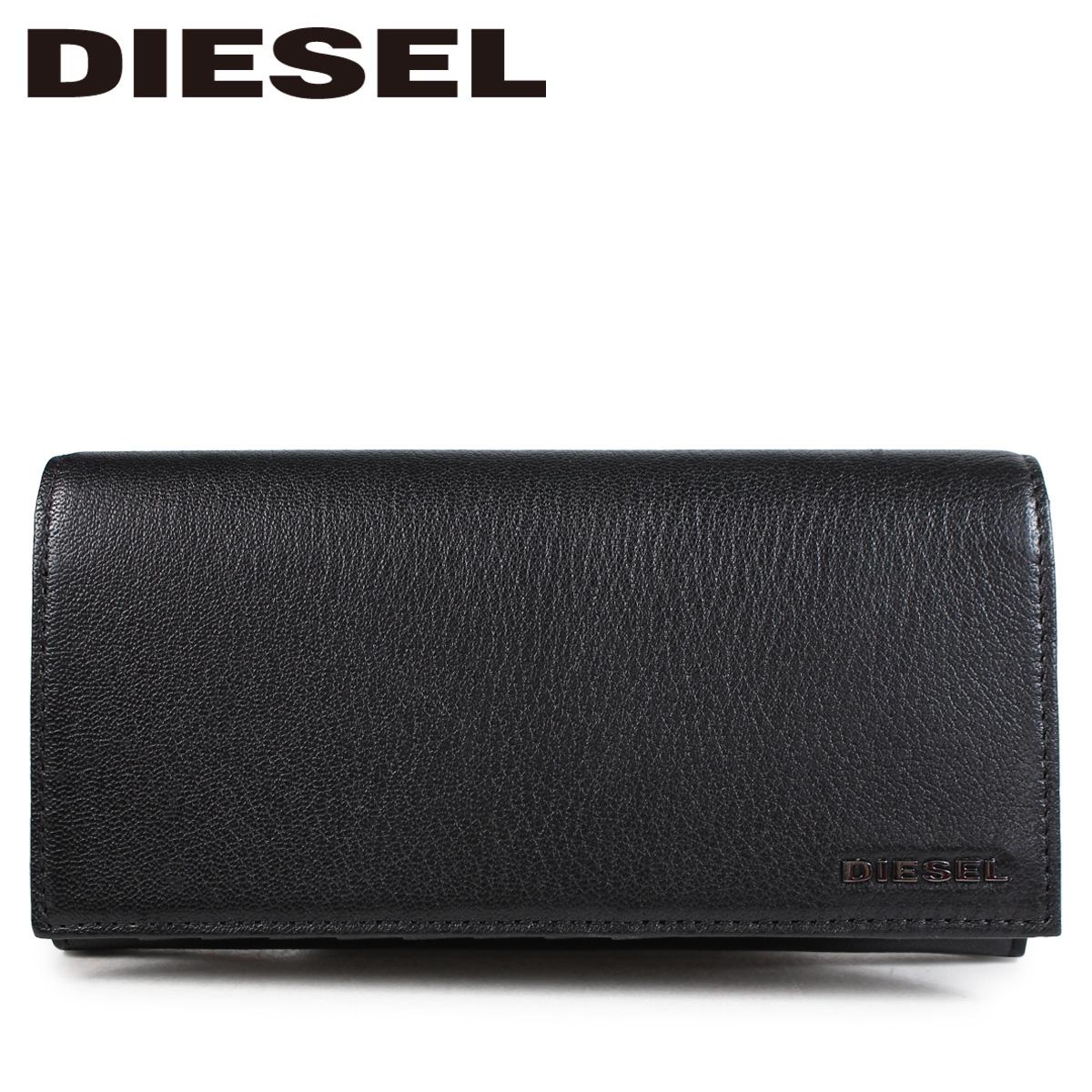 DIESEL ディーゼル 財布 長財布 メンズ 二つ折り ARIANO 24 A DAY ブラック X05984 P0396
