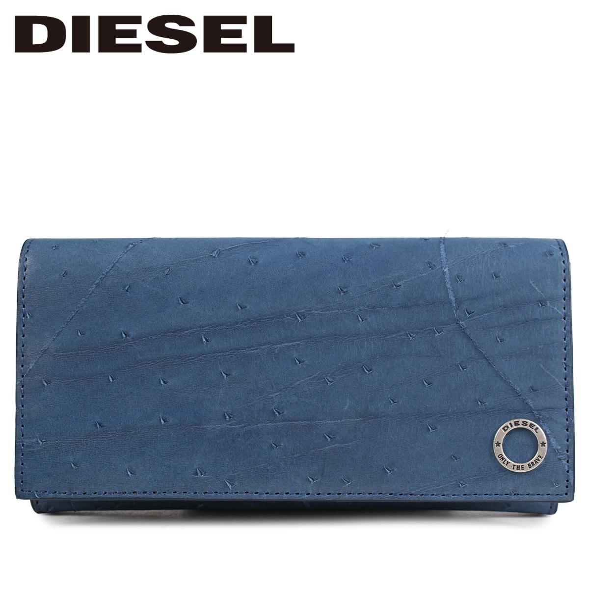 DIESEL ディーゼル 財布 長財布 メンズ 二つ折り KURACAO 24 A DAY ブルー X05826 PR080