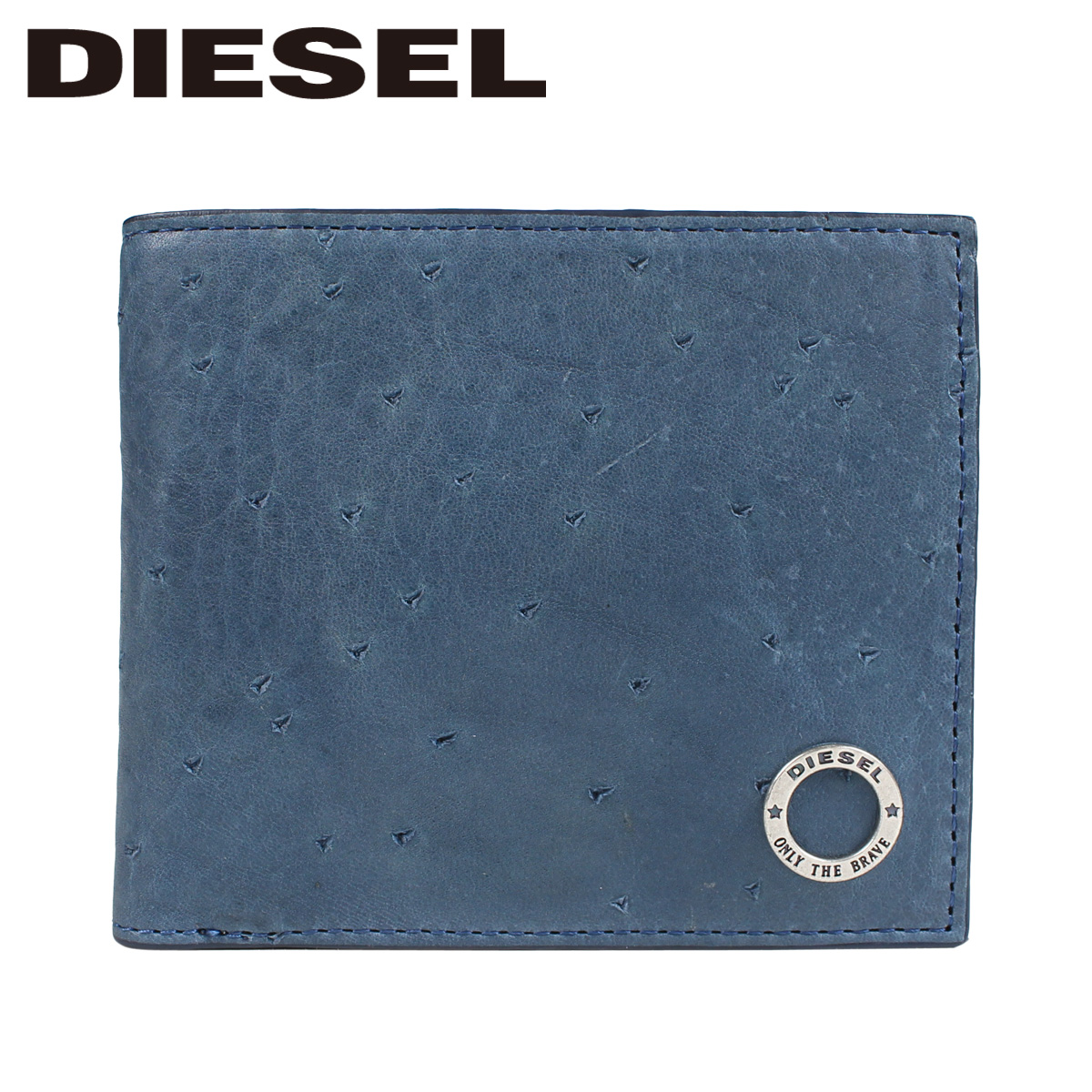 DIESEL ディーゼル 財布 メンズ 二つ折り KURACAO HIRESH S ブルー
