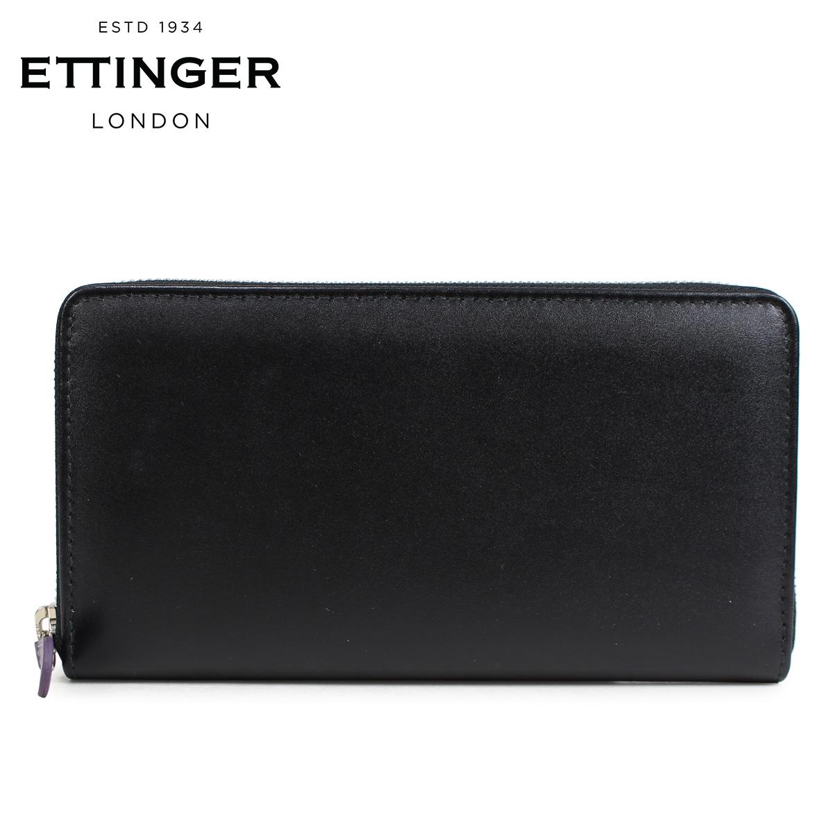 ETTINGER エッティンガー 財布 長財布 メンズ 本革 STERLING LARGE ZIP AROUND PURSE ブラック ST2051EJR