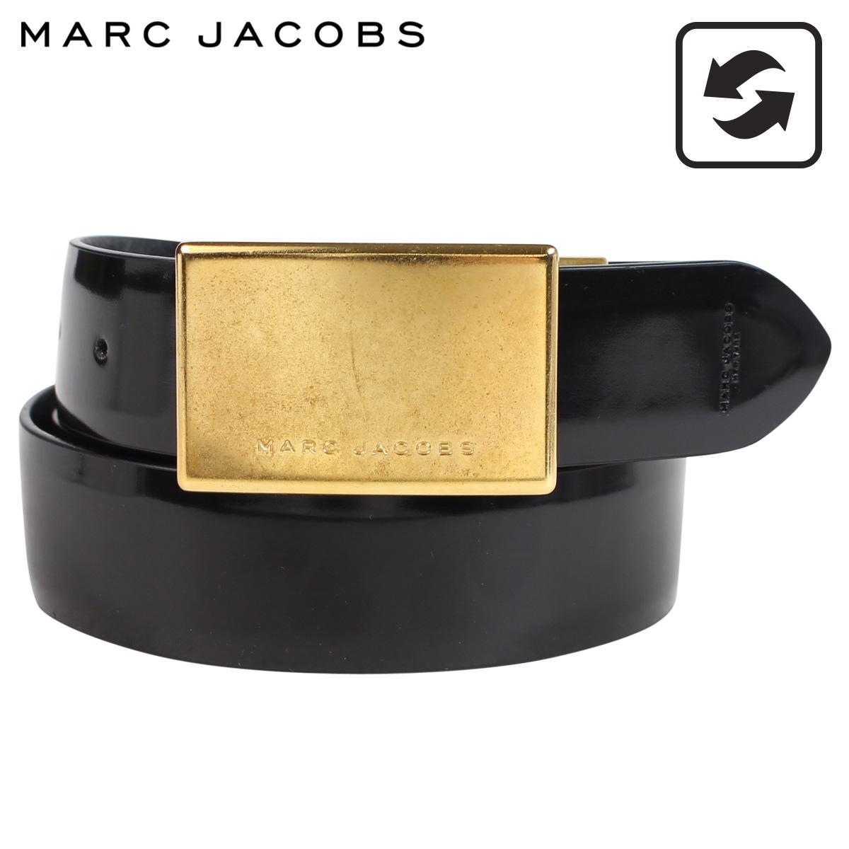 MARC JACOBS マークジェイコブス ベルト レザーベルト メンズ 本革 リバーシブル MJ REGIMENT BELT ブラック S84TP0158
