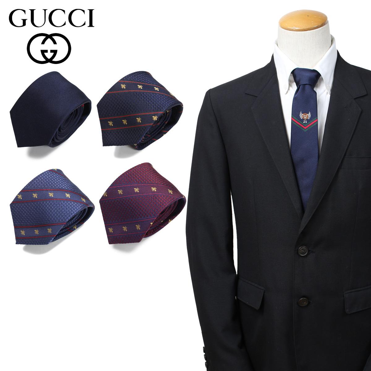 GUCCI グッチ ネクタイ メンズ イタリア製 シルク ビジネス 結婚式 [4/3 新入荷]
