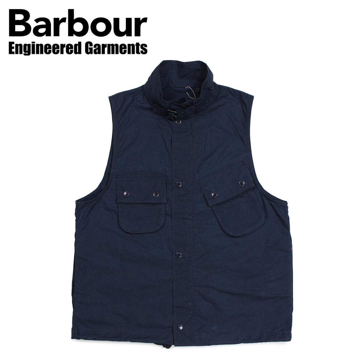 Barbour バブアー エンジニアードガーメンツ ENGINEERED GARMENTS ベスト ジレ メンズ アーサー ARTHUR GILET コラボ ネイビー MGI0045NY71 [3/28 新入荷]