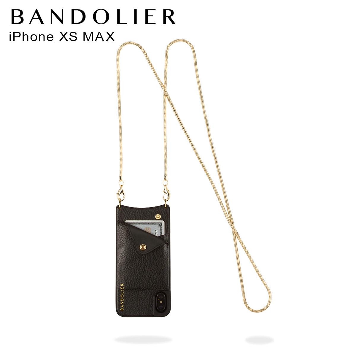 バンドリヤー BANDOLIER iPhone XS MAX ケース スマホ 携帯 アイフォン BELINDA GOLD メンズ レディース ブラック 黒 2002