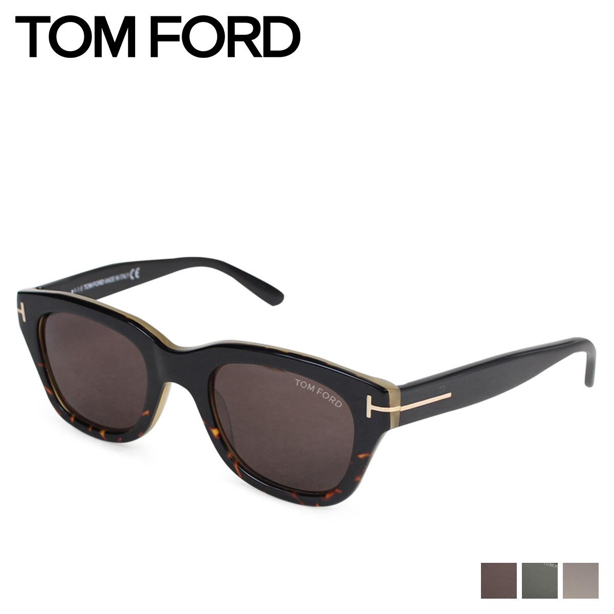 TOM FORD トムフォード サングラス メンズ レディース UVカット アジアンフィット ウェリントン アイウェア SNOWDON ブラック ブラウン 黒 FT0237