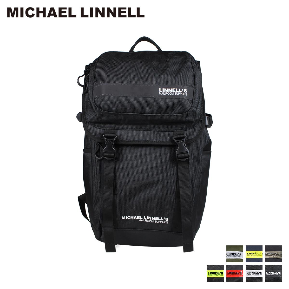 MICHAEL LINNELL マイケルリンネル リュック バッグ 27L メンズ レディース バックパック DOUBLE DECKER ブラック ネイビー カーキ 黒 ML-018