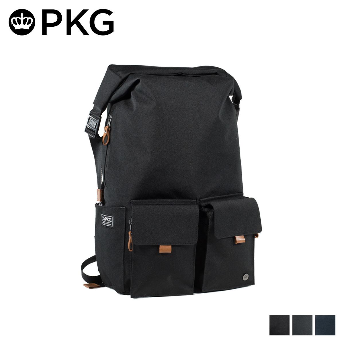 ピーケージー PKG バッグ リュック バックパック メンズ レディース 22L CONCORD ブラック グレー チャコールグレー 黒 LB01P2