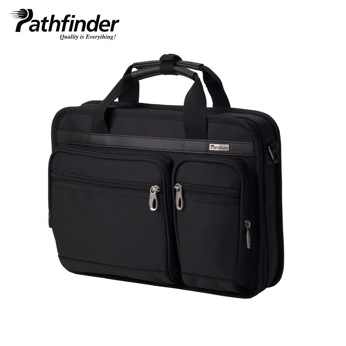 Pathfinder パスファインダー バッグ ビジネスバッグ ブリーフケース ショルダー メンズ AVENGER ブラック 黒 PF1801B