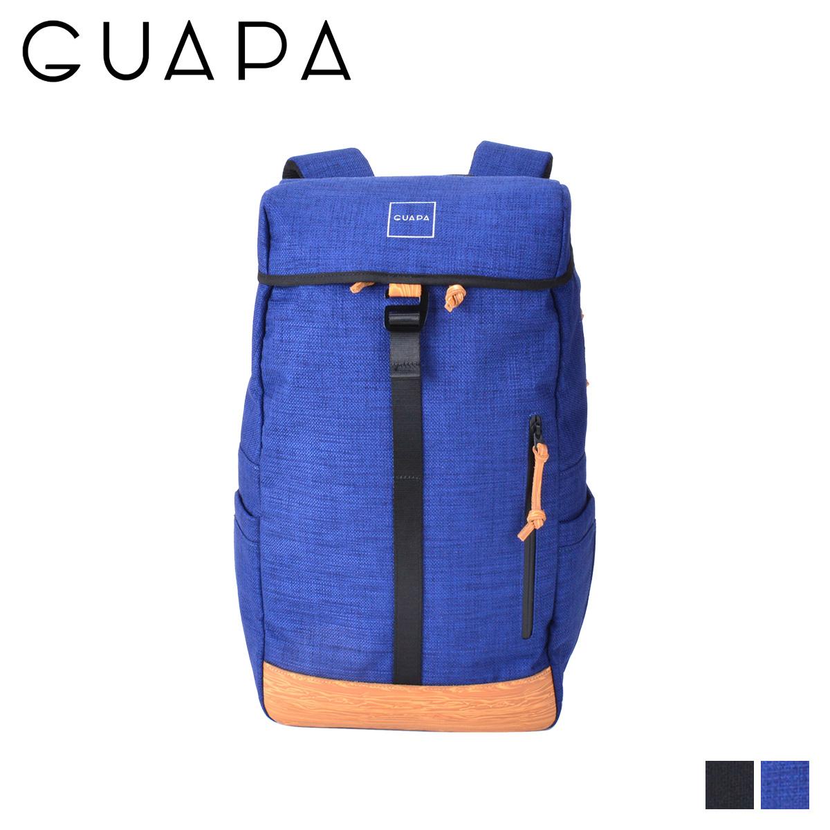 グアパ GUAPA リュック バッグ バックパック メンズ レディース 18L DONAU SERIES ブラック ネイビー 黒 51003