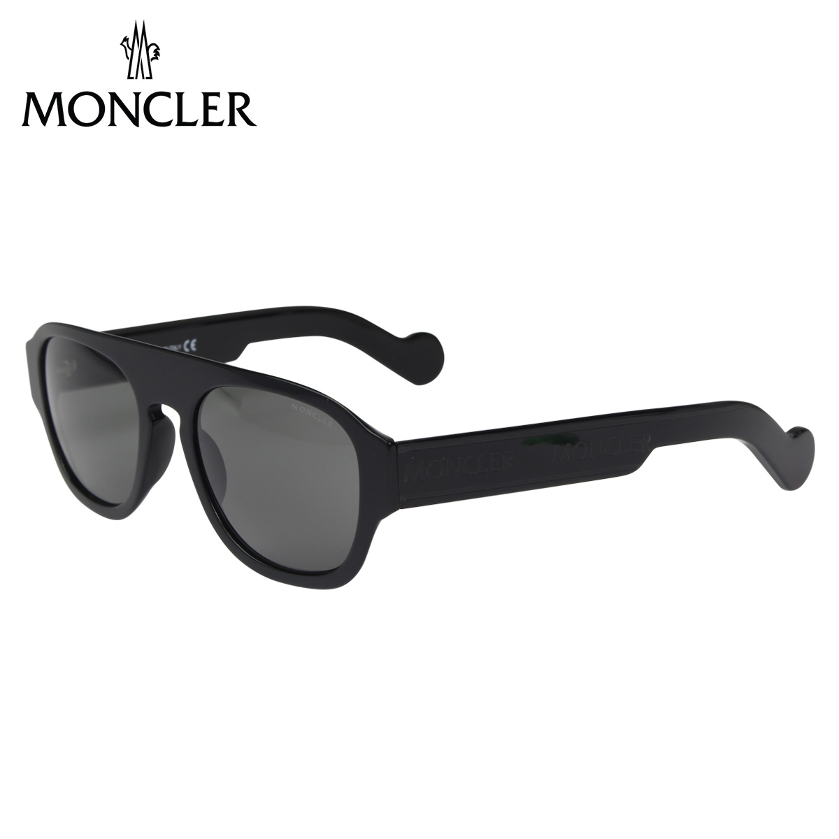 MONCLER モンクレール サングラス メンズ レディース UVカット ウェリントン SUNGLASSES ブラック 黒 ML0096