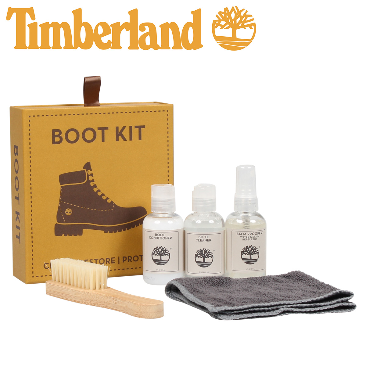 Timberland Timberland Shoo care set boots care shoes leather waterproof spray water repellency shoes brush cleaner shoes care care product care BOOT