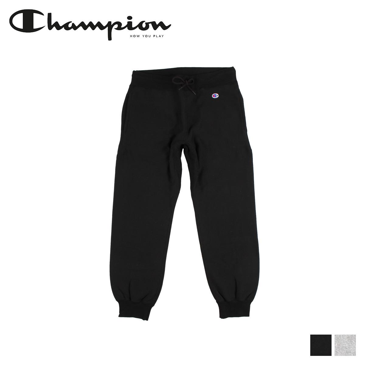 Champion チャンピオン スウェット パンツ リバースウィーブ メンズ REVERSE WEAVE SWEATPANT ブラック グレー 黒 C3-N290