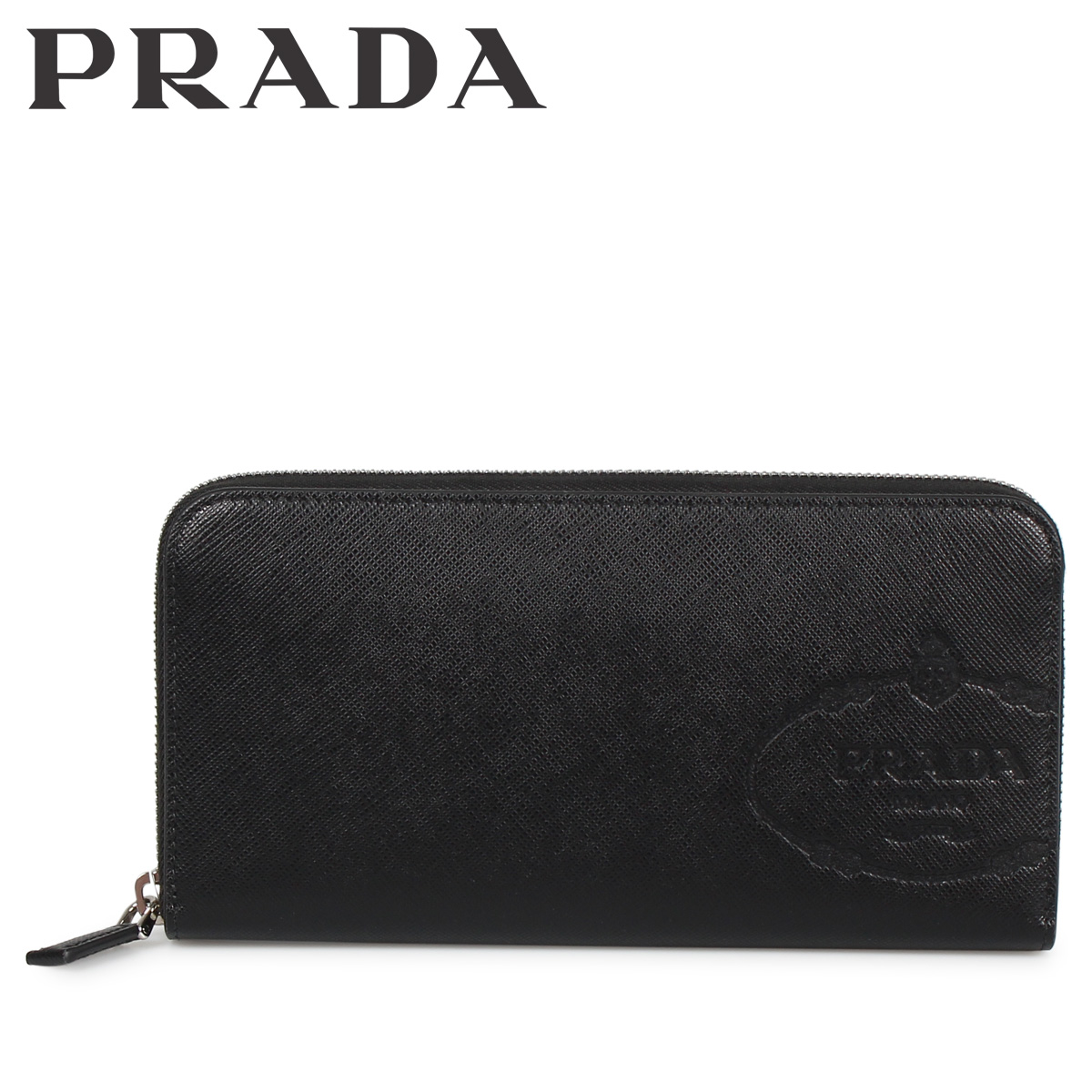 PRADA プラダ 財布 長財布 メンズ レディース サフィアーノ ラウンドファスナー ZIP AROUND NODO SAVOIA ブラック 黒 2ML3172MB8