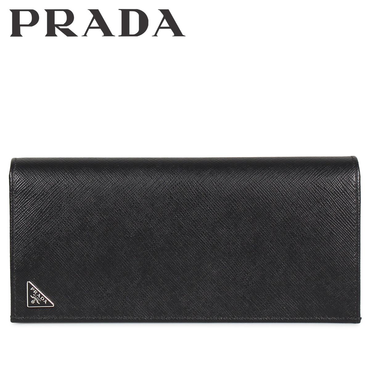 PRADA プラダ 財布 長財布 メンズ サフィアーノ VERTICAL WALLET ブラック 黒 2MV836QHH