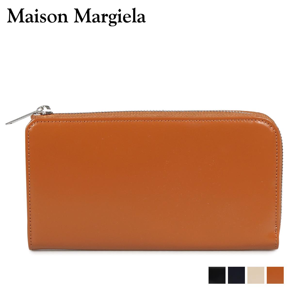 MAISON MARGIELA メゾンマルジェラ 財布 長財布 メンズ レディース L字ファスナー LONG WALLET レザー ブラック ダーク ネイビー ベージュ ブラウン 黒 S35UI0431 P2714