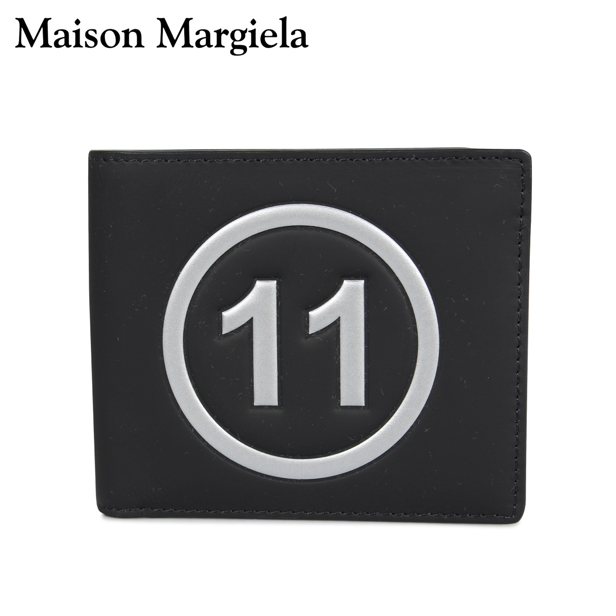 MAISON MARGIELA メゾンマルジェラ 財布 ミニ財布 二つ折り メンズ レディース BI-FOLD WALLET レザー ブラック 黒 S35UI0435 P0047