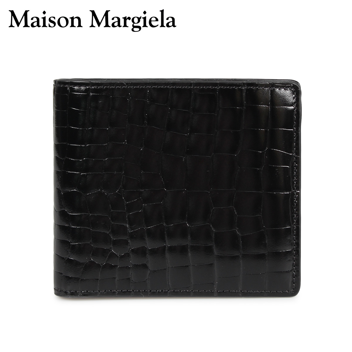 MAISON MARGIELA メゾンマルジェラ 財布 ミニ財布 二つ折り メンズ レディース MINI WALLET レザー ブラック 黒 S35UI0435 P0195