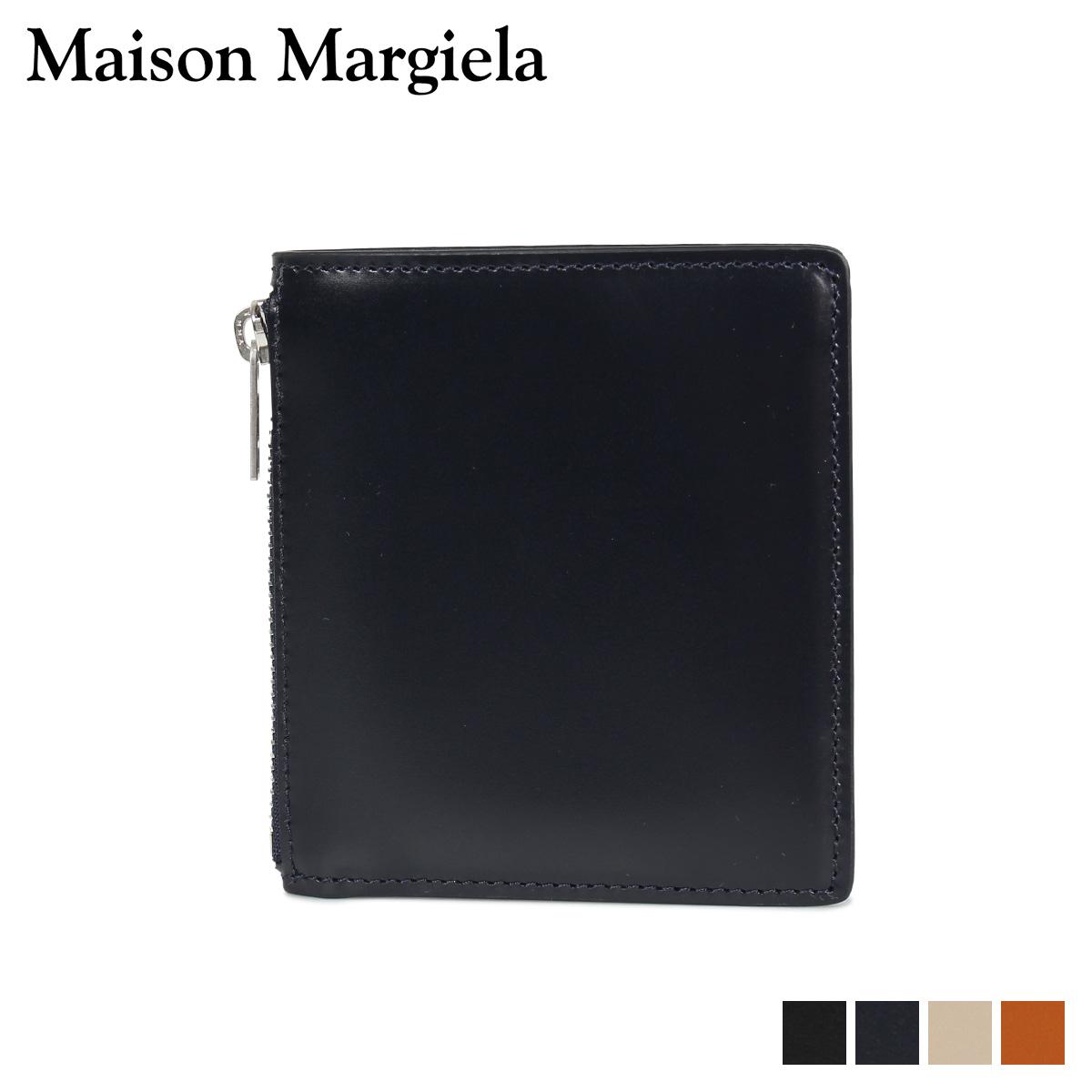 MAISON MARGIELA メゾンマルジェラ 財布 ミニ財布 二つ折り メンズ レディース MINI WALLET レザー ブラック ダーク ネイビー ベージュ ブラウン 黒 S35UI0448 P2714