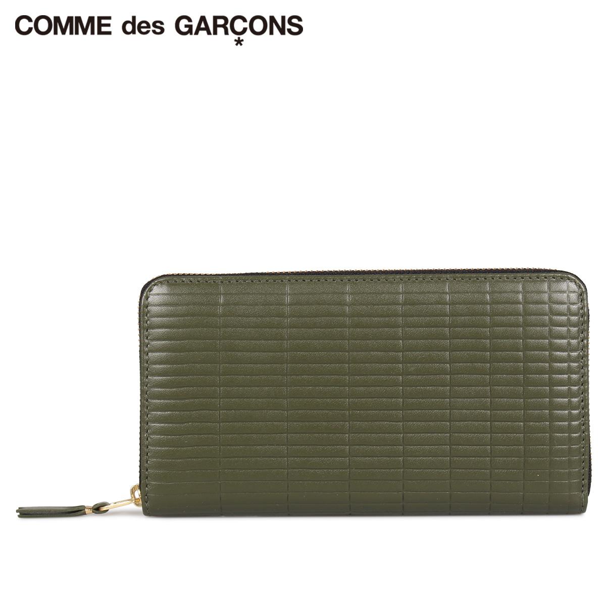 COMME des GARCONS コムデギャルソン 財布 長財布 メンズ レディース ラウンドファスナー BRICK WALLET カーキ SA0111BK