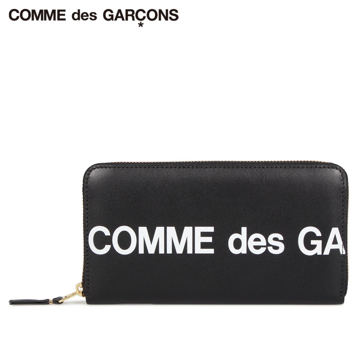 COMME des GARCONS コムデギャルソン 財布 長財布 メンズ レディース ラウンドファスナー 本革 HUGE LOGO WALLET ブラック 黒 SA0111HL