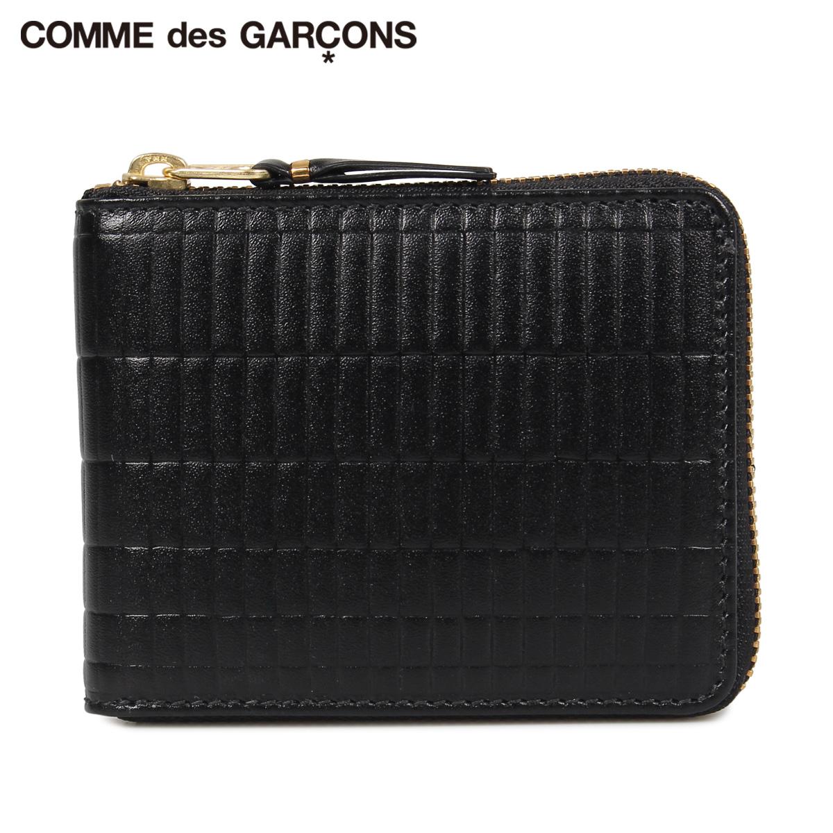 COMME des GARCONS コムデギャルソン 財布 二つ折り メンズ レディース ラウンドファスナー 本革 BRICK WALLET ブラック 黒 SA7100BK