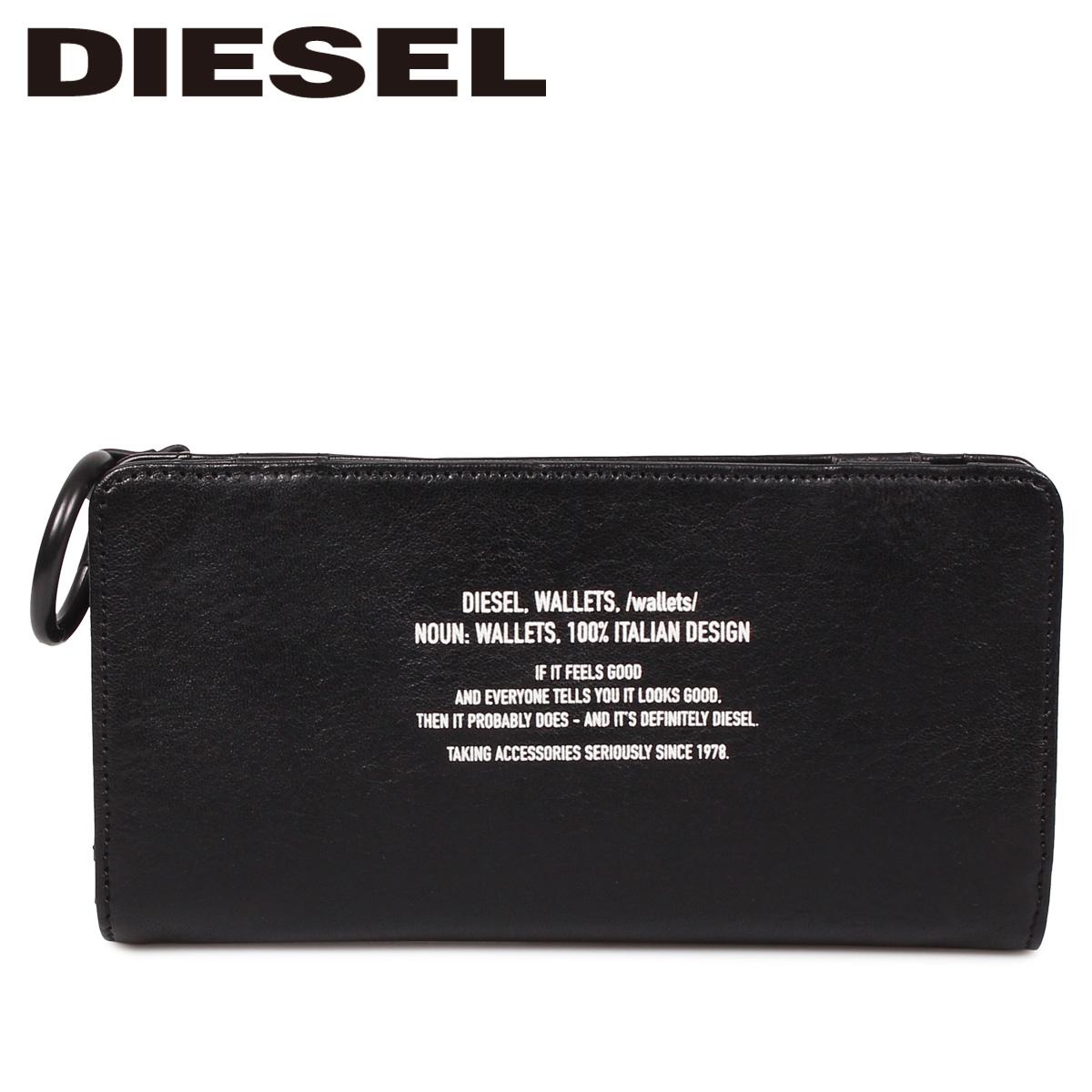 DIESEL ディーゼル 財布 長財布 メンズ L字ファスナー 本革 BANDER V-24 ZIP ブラック 黒 X06293 PS142