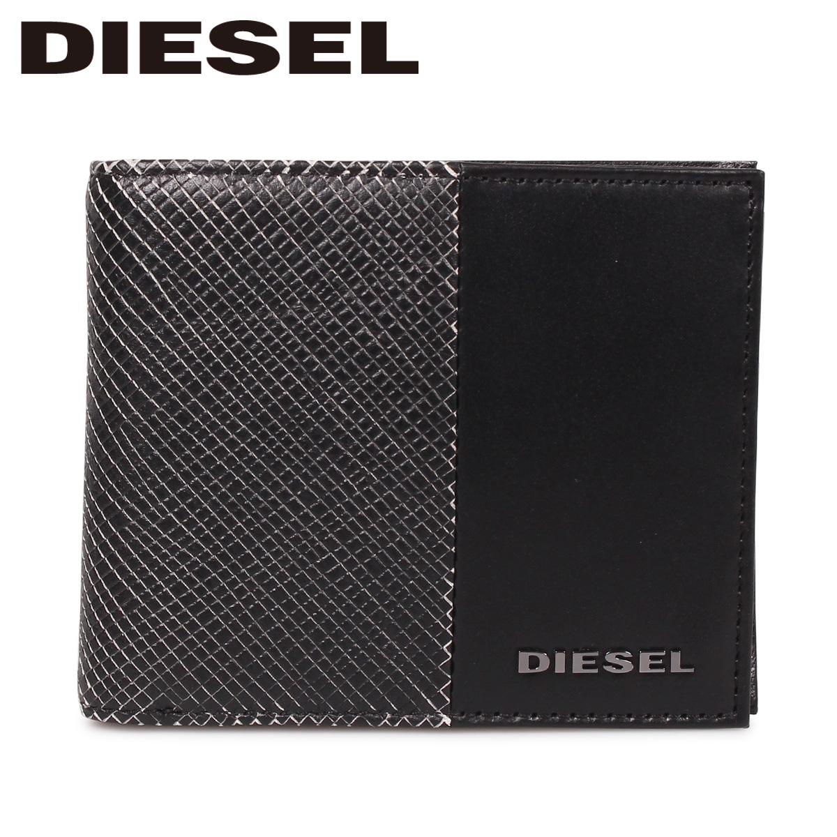 DIESEL ディーゼル 財布 二つ折り メンズ 本革 HIRESH S CALTRANO ブラック 黒 X06311 P0598