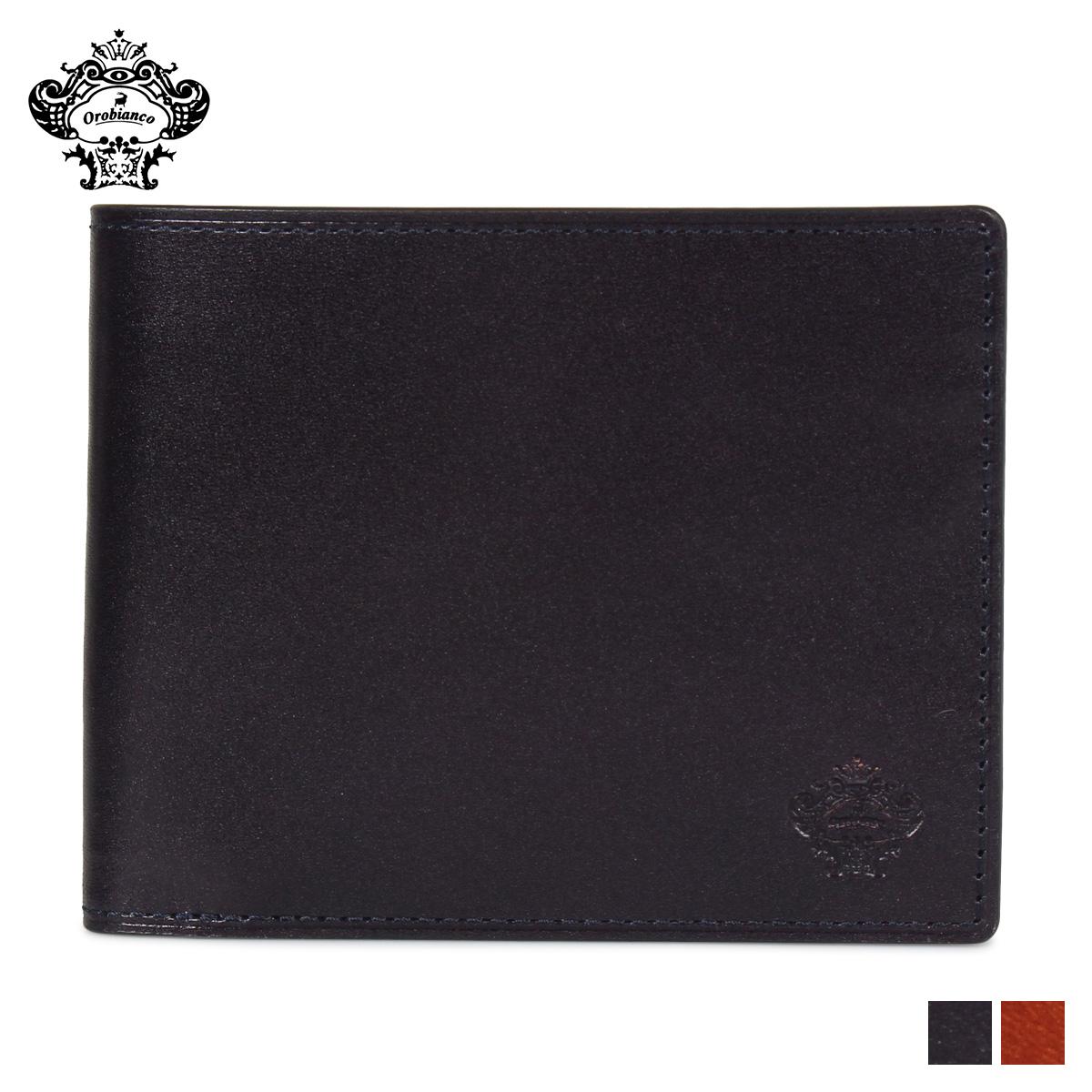 Orobianco オロビアンコ 財布 二つ折り メンズ 本革 BI-FOLD WALLET ブラック ブラウン 黒 ORS-012508