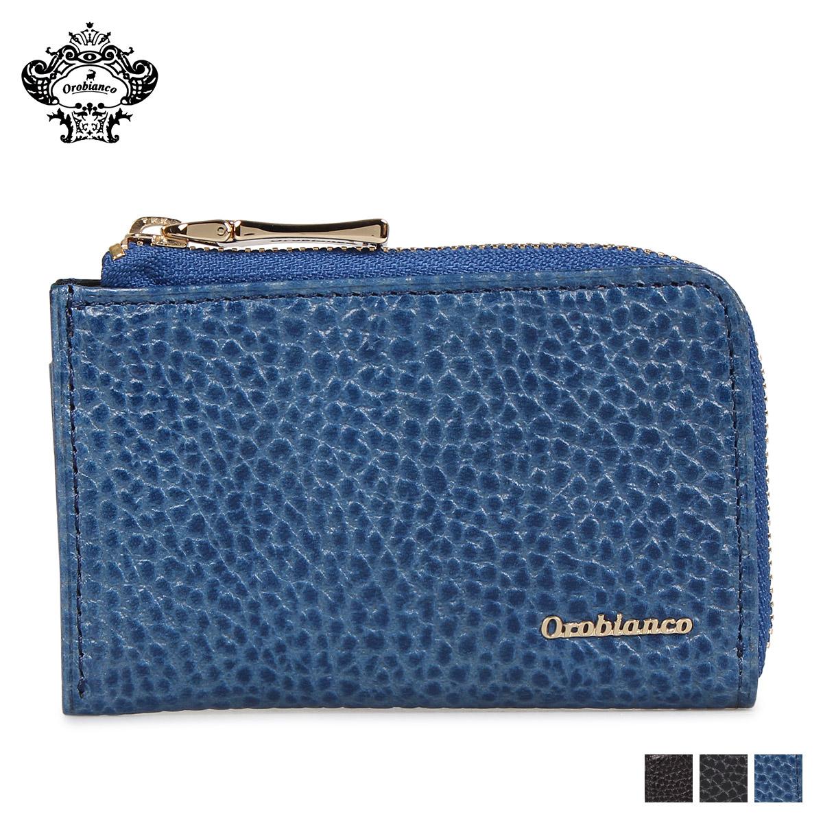 Orobianco オロビアンコ 財布 小銭入れ コインケース メンズ レザー L字ファスナー COIN PURSE ブラック ネイビー ブルー 黒 ORS-021018
