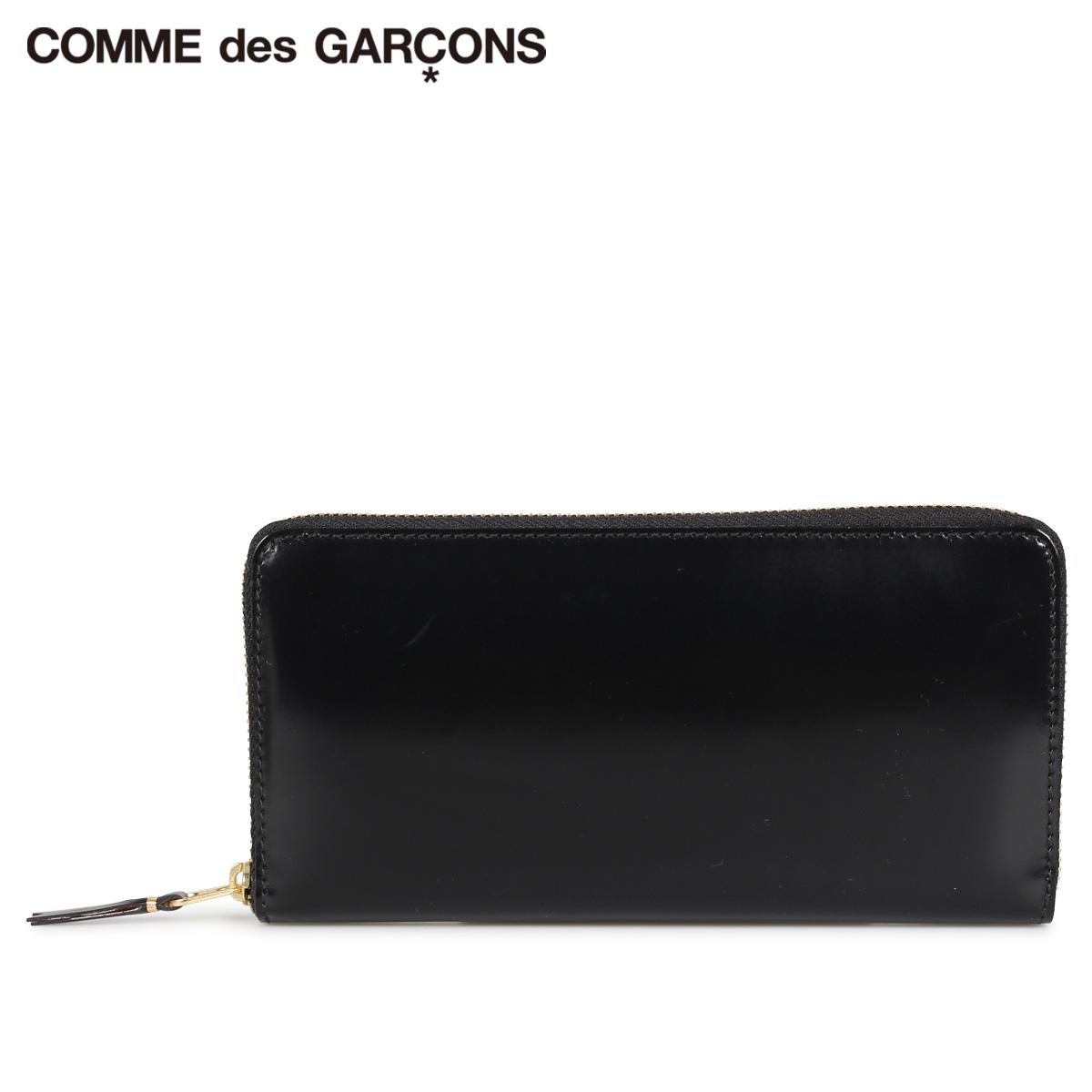 COMME des GARCONS コムデギャルソン 財布 長財布 メンズ レディース ラウンドファスナー 本革 MIRROR INSIDE WALLET ブラック 黒 SA0110MI