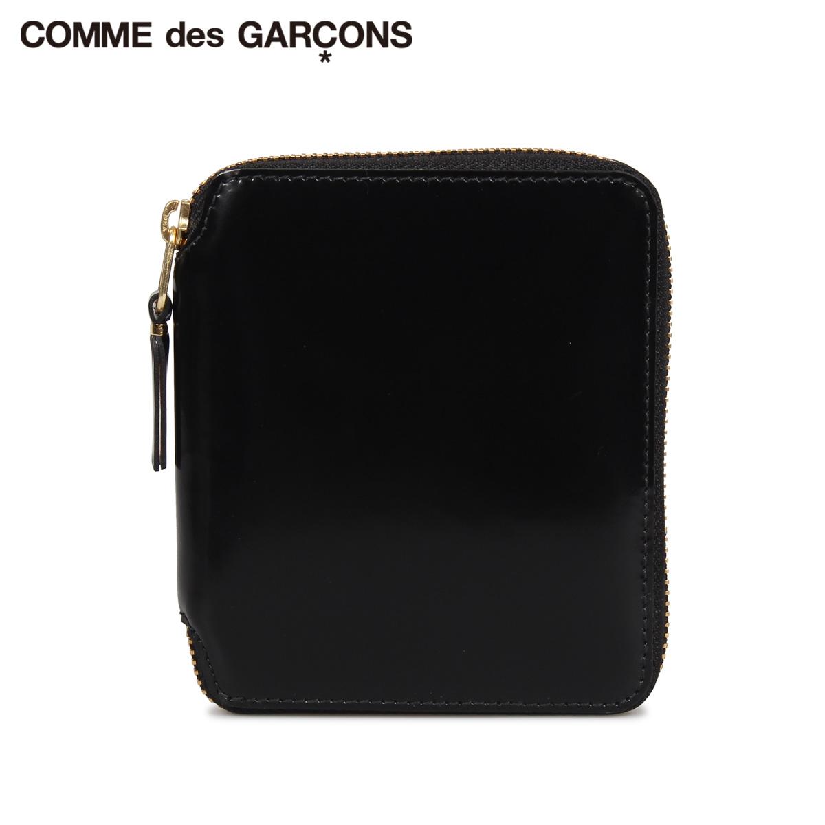 COMME des GARCONS コムデギャルソン 財布 二つ折り メンズ レディース ラウンドファスナー 本革 MILLOR INSIDE WALLET ブラック 黒 SA2100MI