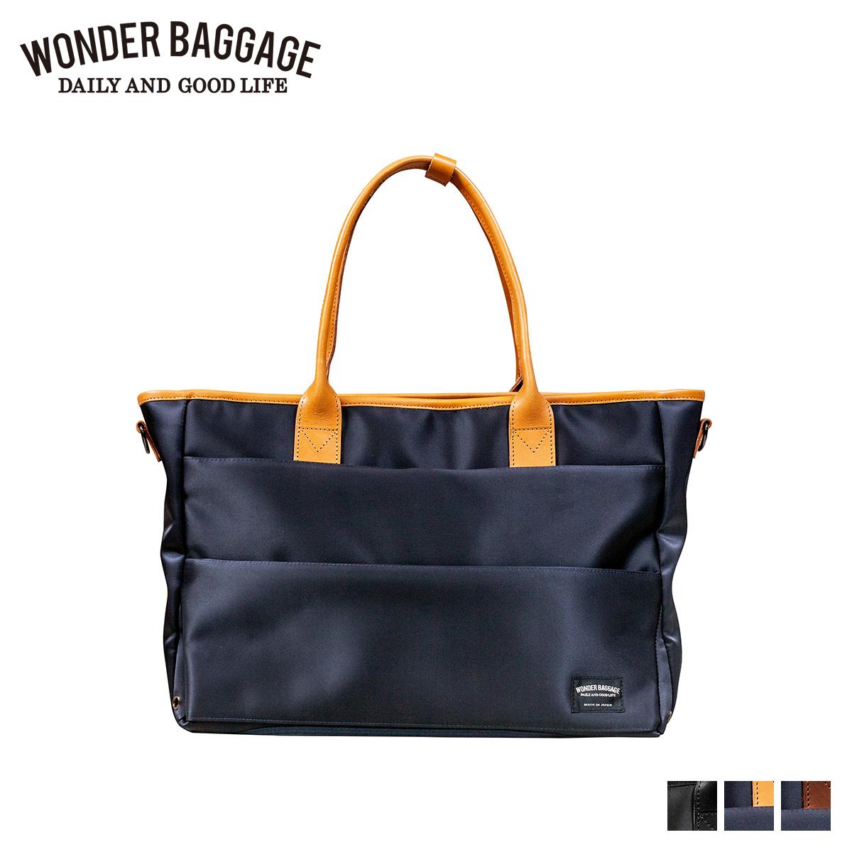 WONDER BAGGAGE ワンダーバゲージ バッグ トートバッグ ビジネスバッグ ショルダー グッドマンズ メンズ GOODMANS TOTE WR ブラック ネイビー チョコ 黒 WB-G-021