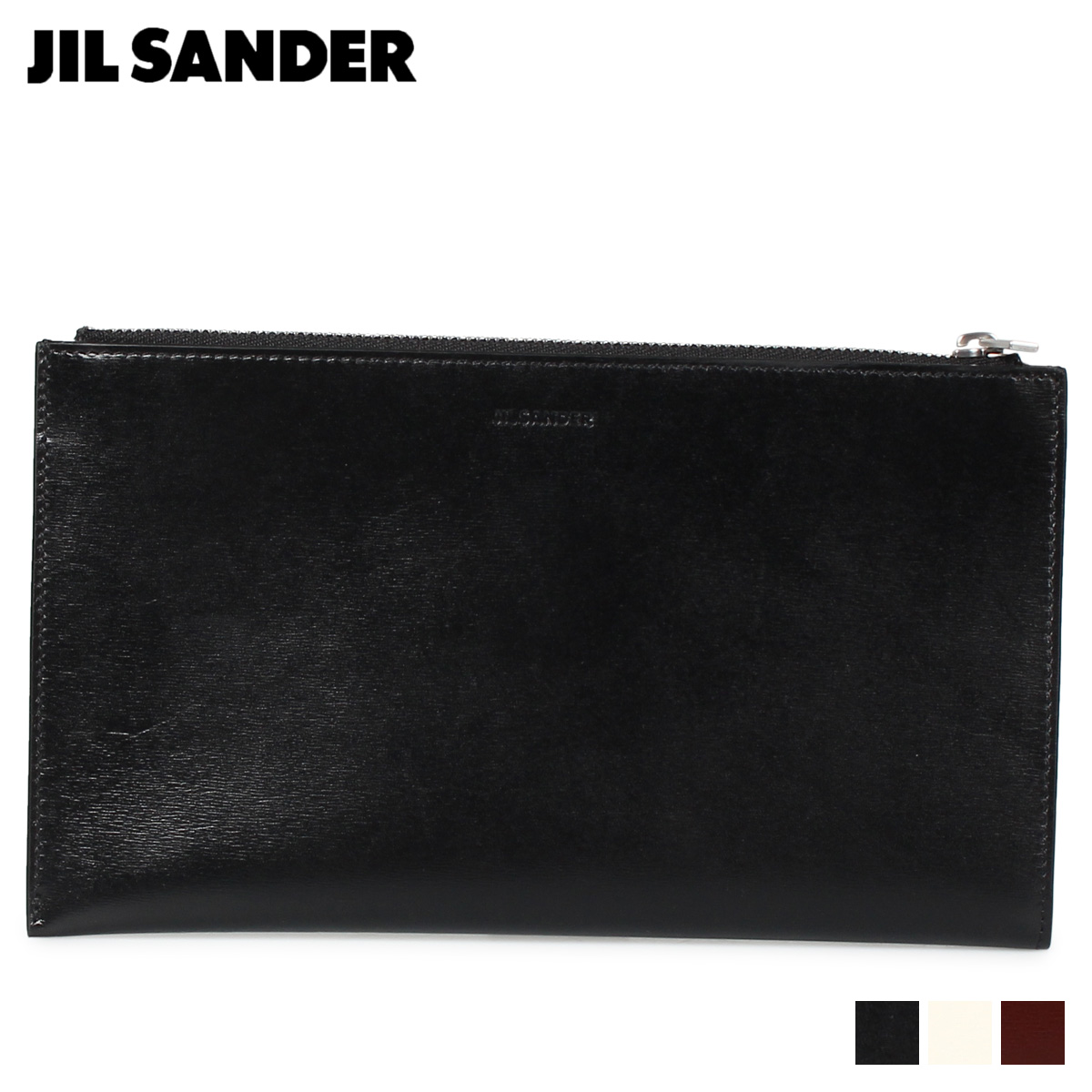 JIL SANDER ジルサンダー 財布 長財布 メンズ FOLDED ZIP WALLET MD ブラック ホワイト ブラウン 黒 白 MPS00015N