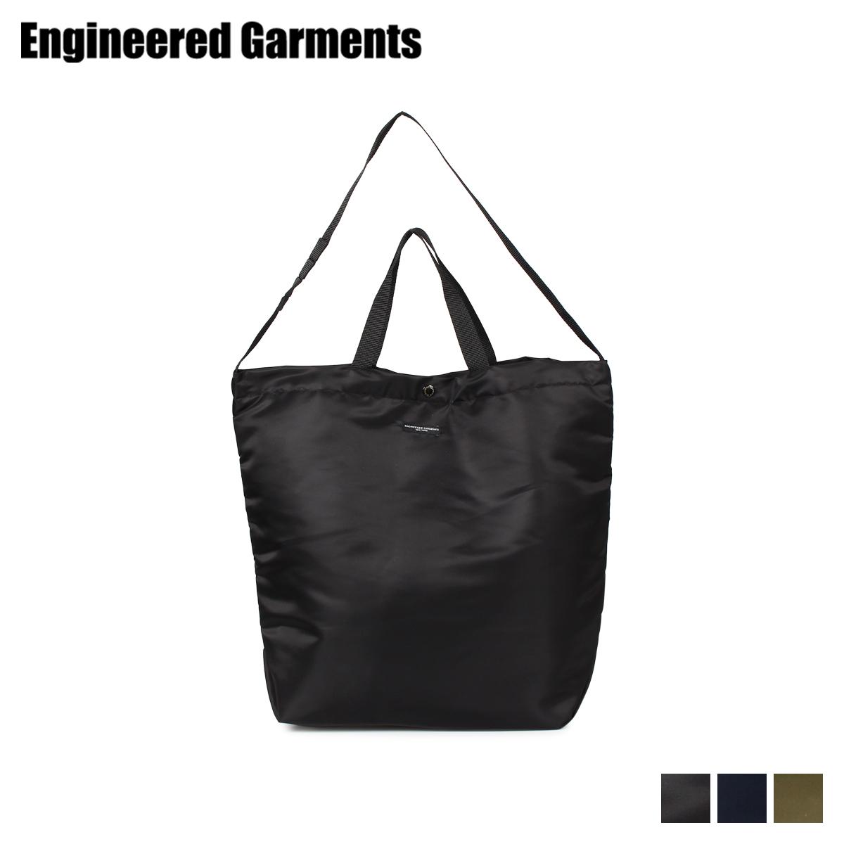 ENGINEERED GARMENTS エンジニアドガーメンツ バッグ トートバッグ ショルダーバッグ メンズ レディース 2WAY CARRY ALL TOTE ブラック ネイビー オリーブ 黒 19F1D005