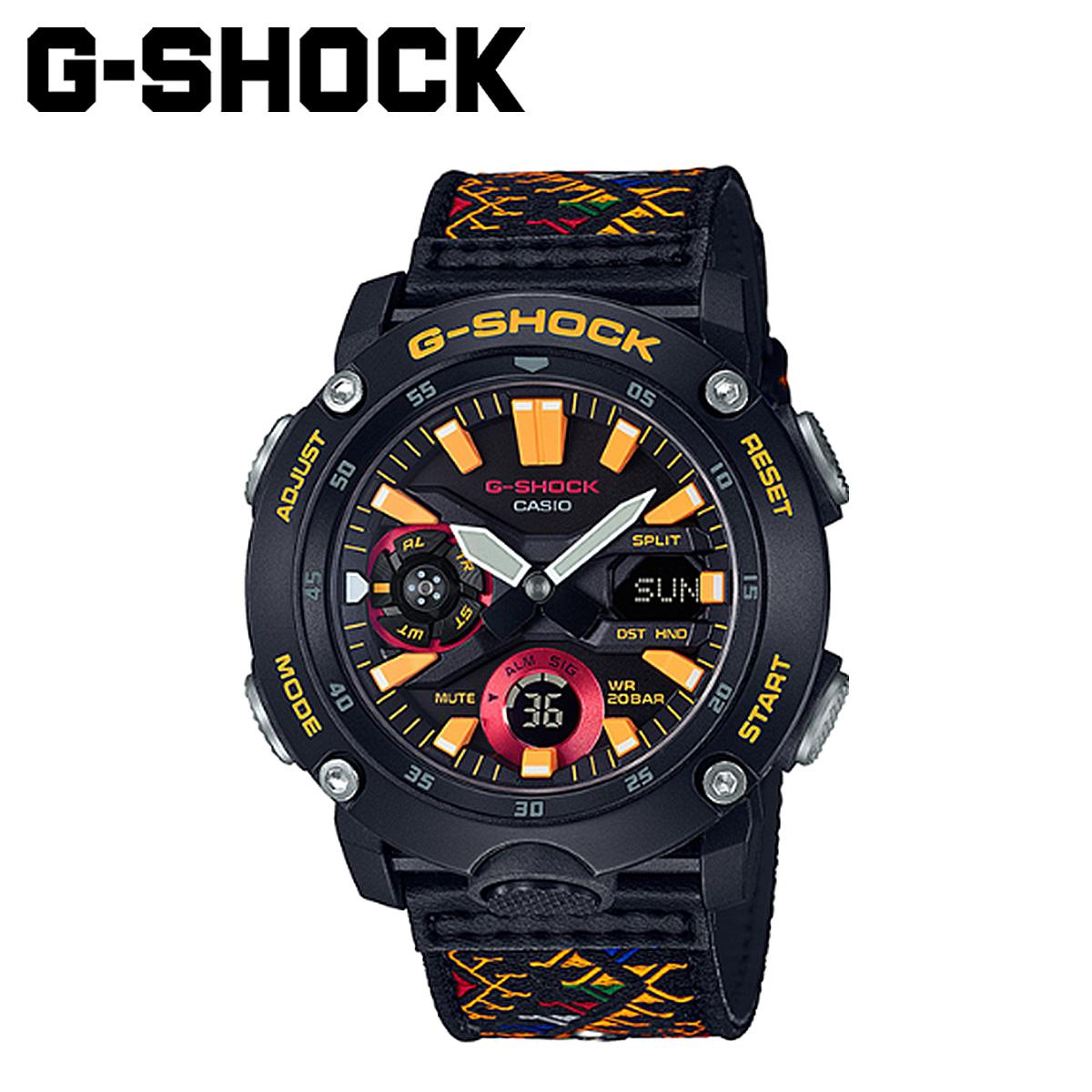CASIO カシオ G-SHOCK 腕時計 GA-2000BT-1AJR カーボンコアガード ブータン王国 ジーショック Gショック G-ショック メンズ レディース ブラック 黒