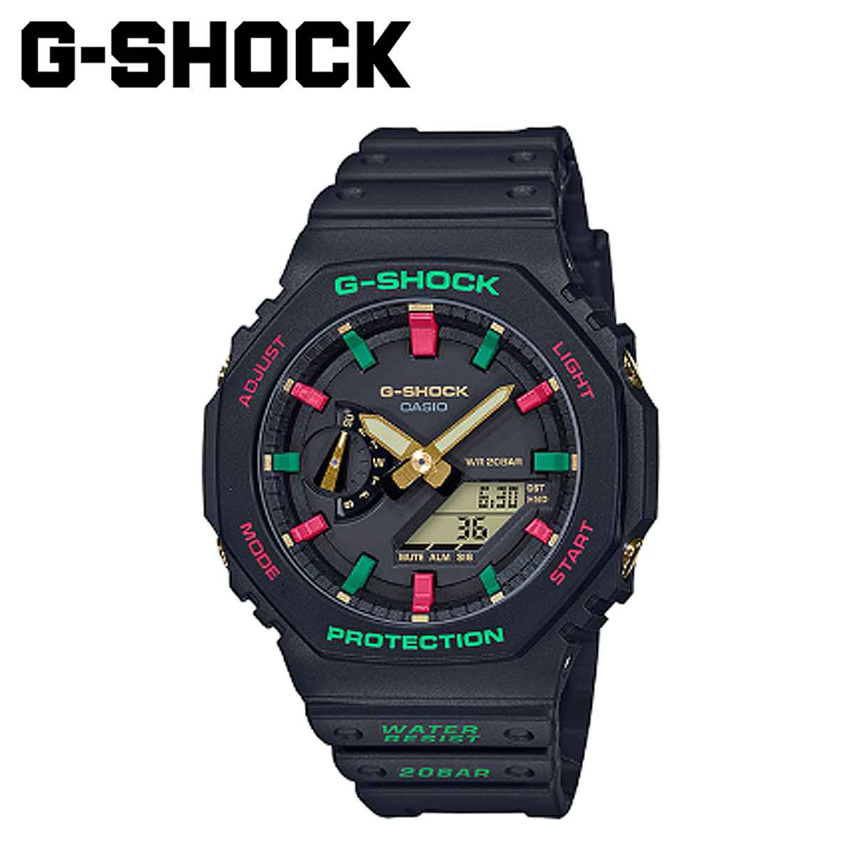 CASIO カシオ G-SHOCK 腕時計 GA-2100TH-1AJF THROWBACK 1990S ジーショック Gショック G-ショック メンズ レディース ブラック 黒