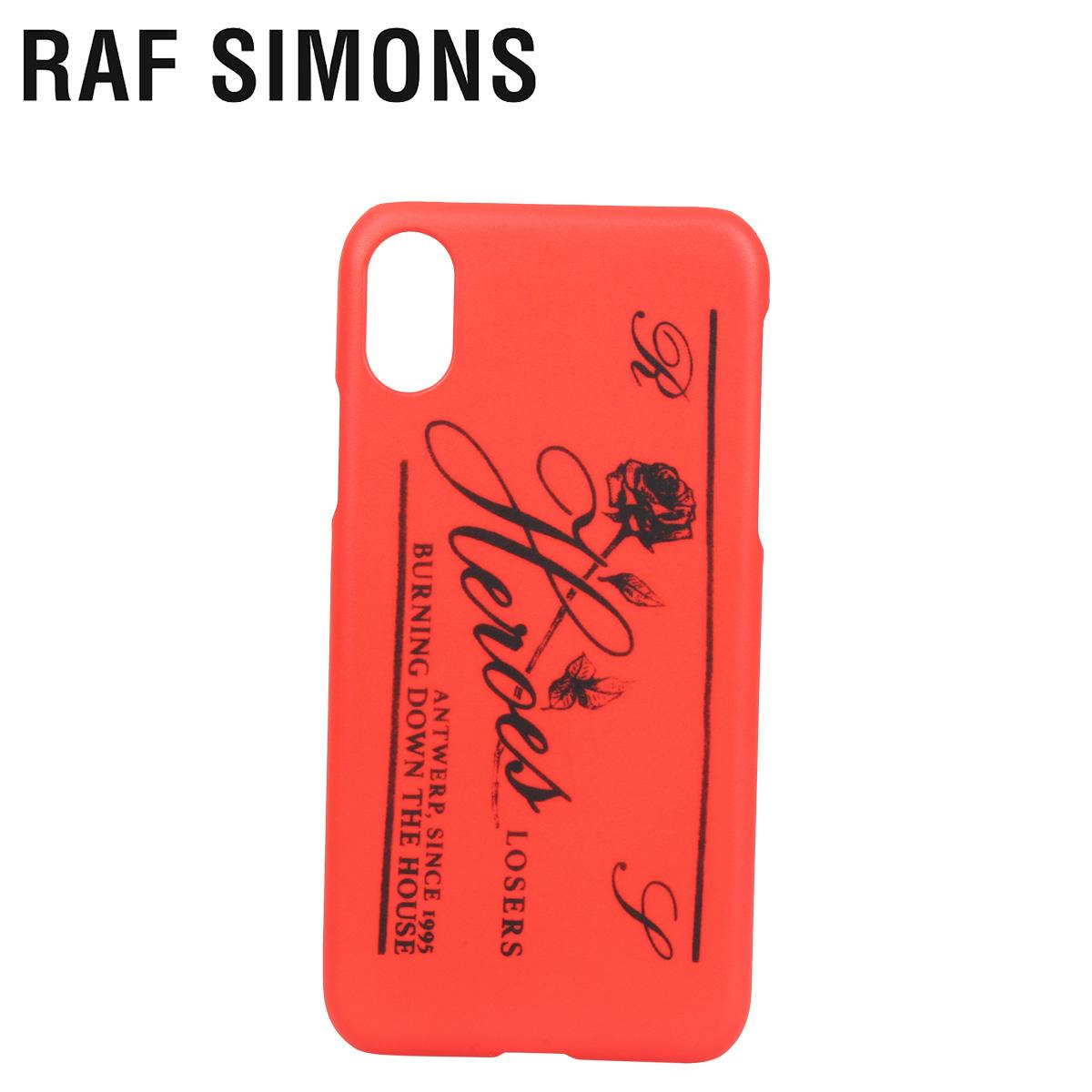 RAF SIMONS ラフシモンズ iPhone XS X ケース スマホ 携帯 アイフォン メンズ レディース IPHONE CASE レッド 192-942