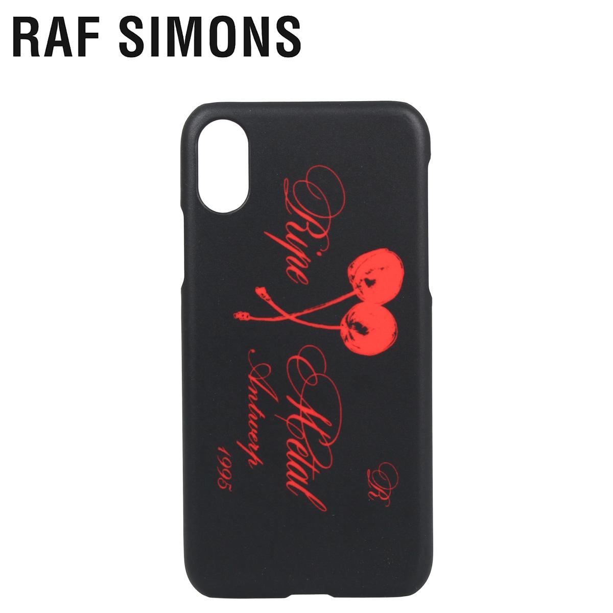 RAF SIMONS ラフシモンズ iPhone XS X ケース スマホ 携帯 アイフォン メンズ レディース IPHONE CASE ブラック 黒 192-942