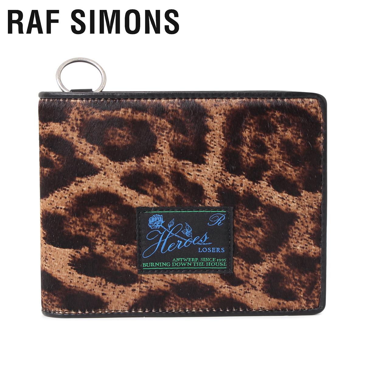 RAF SIMONS ラフシモンズ 財布 二つ折り メンズ WALLET WITH RING ブラウン 192-946