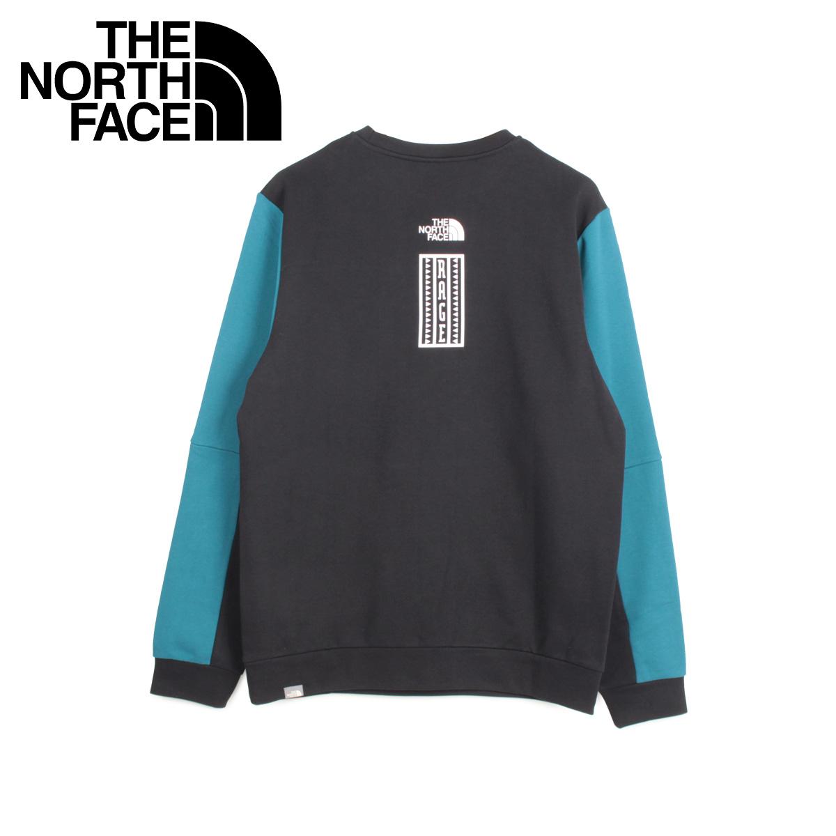THE NORTH FACE ノースフェイス トレーナー スウェット メンズ U RAGE GRAPHIC CREW ブルー T93XXE