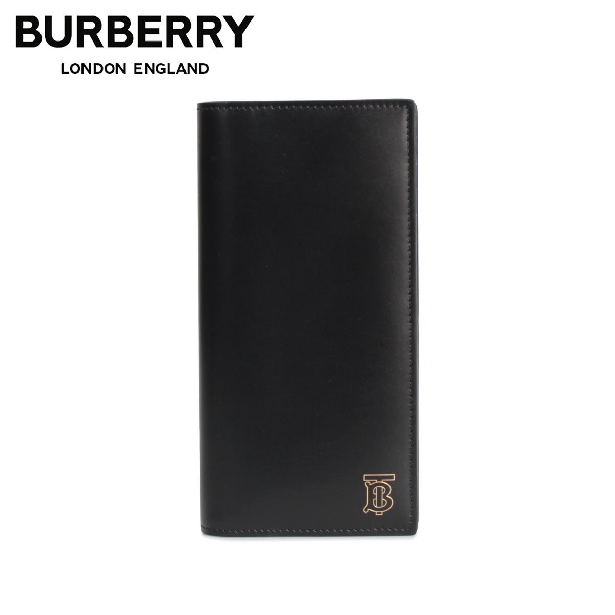 BURBERRY バーバリー 財布 長財布 メンズ CAVENDISH TB TAILORING LEATHER WALLET ブラック 黒 8009190