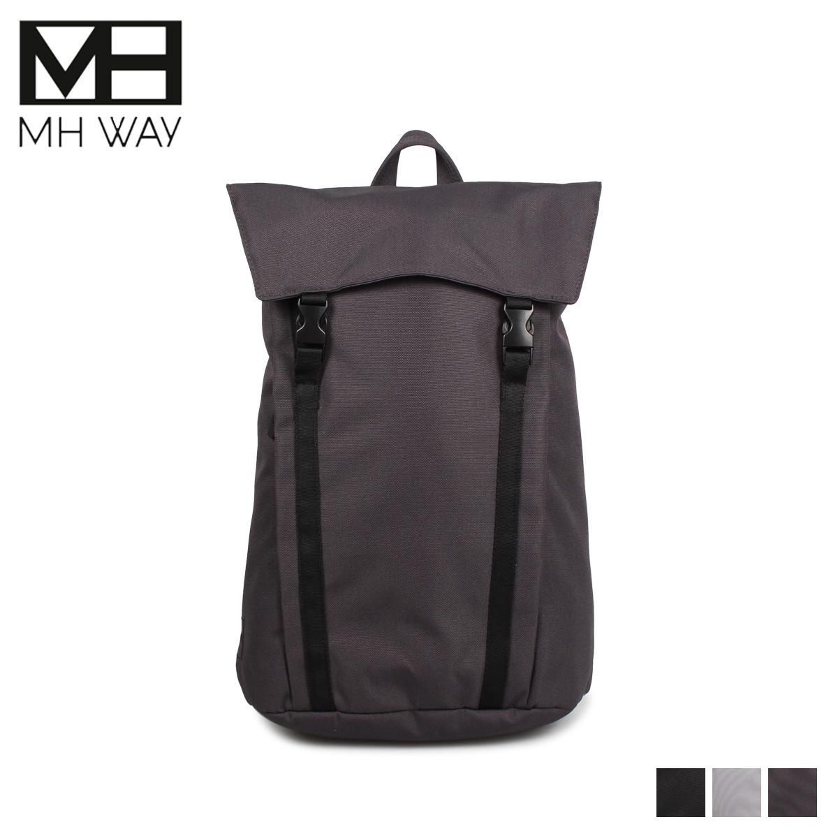 エムエイチウェイ MH WAY リュック バッグ バックパック メンズ レディース 20L BELL BACKPACK L WITH FLAP ブラック グレー ライトグレー 黒 MH-004