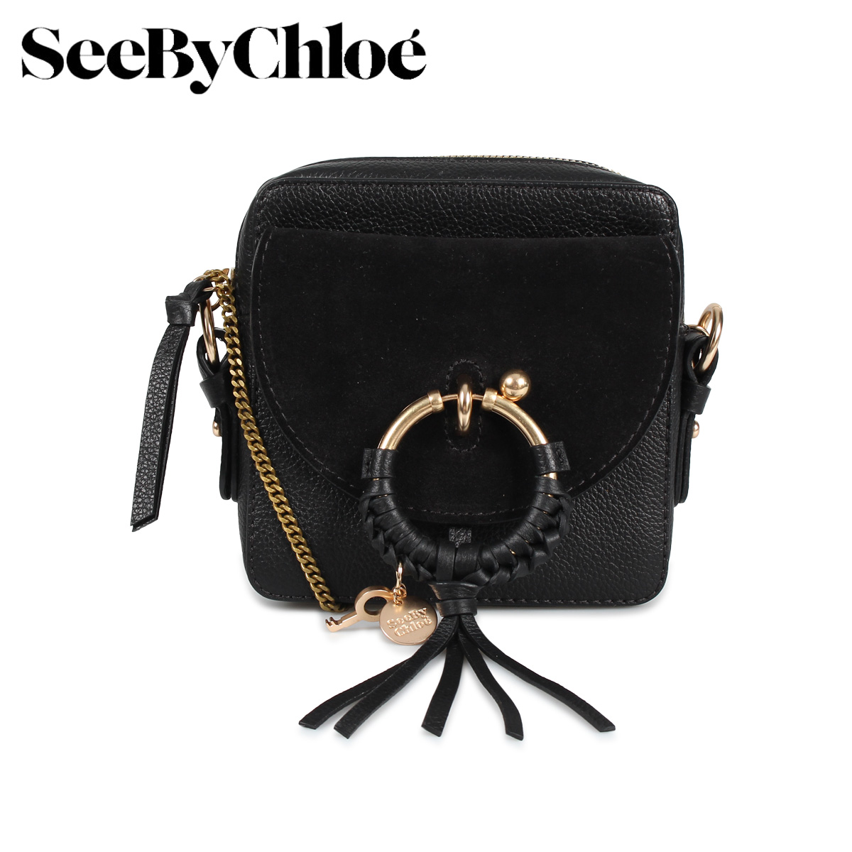 SEE BY CHLOE シーバイクロエ バッグ ショルダーバッグ レディース SHOULDER BAG ブラック 黒 CHS19SS994330