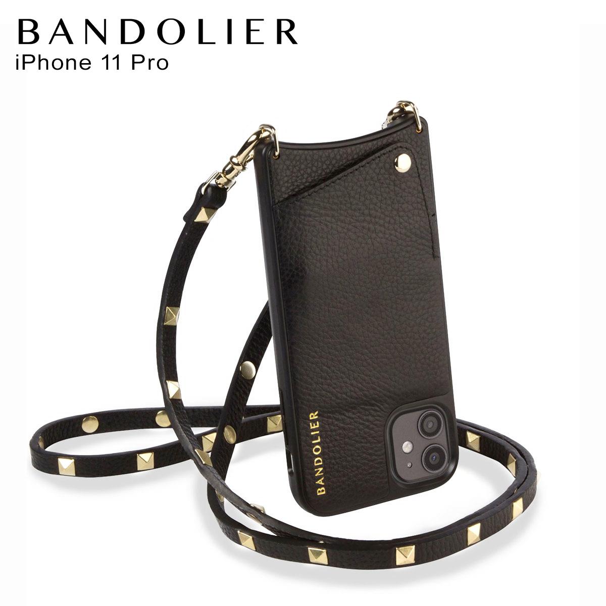 バンドリヤー BANDOLIER サラ ゴールド iPhone11 Pro ケース スマホ 携帯 ショルダー アイフォン メンズ レディース SARAH GOLD ブラック 黒 2014