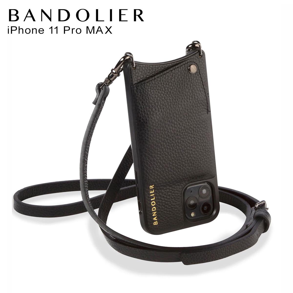 バンドリヤー BANDOLIER エマ ピューター iPhone11 Pro MAX ケース スマホ 携帯 ショルダー アイフォン メンズ レディース EMMA PEWTER ブラック 黒 2980