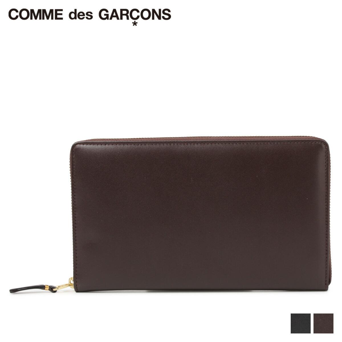 COMME des GARCONS コムデギャルソン 財布 長財布 メンズ レディース ラウンドファスナー NEW CLASSIC ブラック ブラウン 黒 SA0200