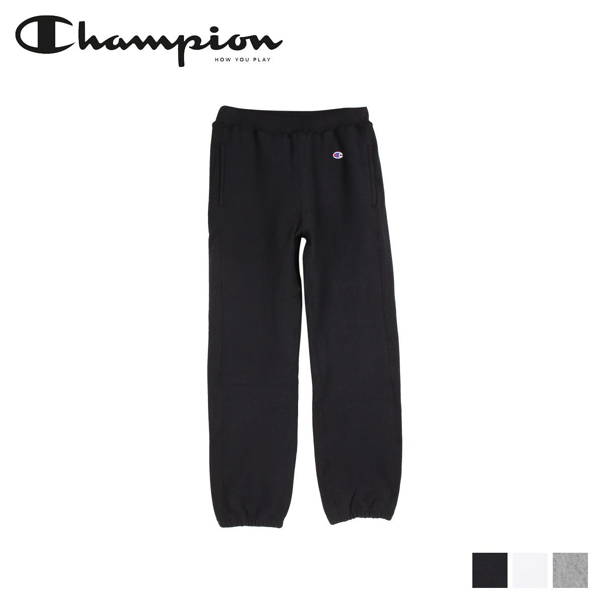 Champion チャンピオン スウェット パンツ メンズ REVERS WEAVE SWEAT PANT ブラック ホワイト グレー 黒 白 C5-Y201