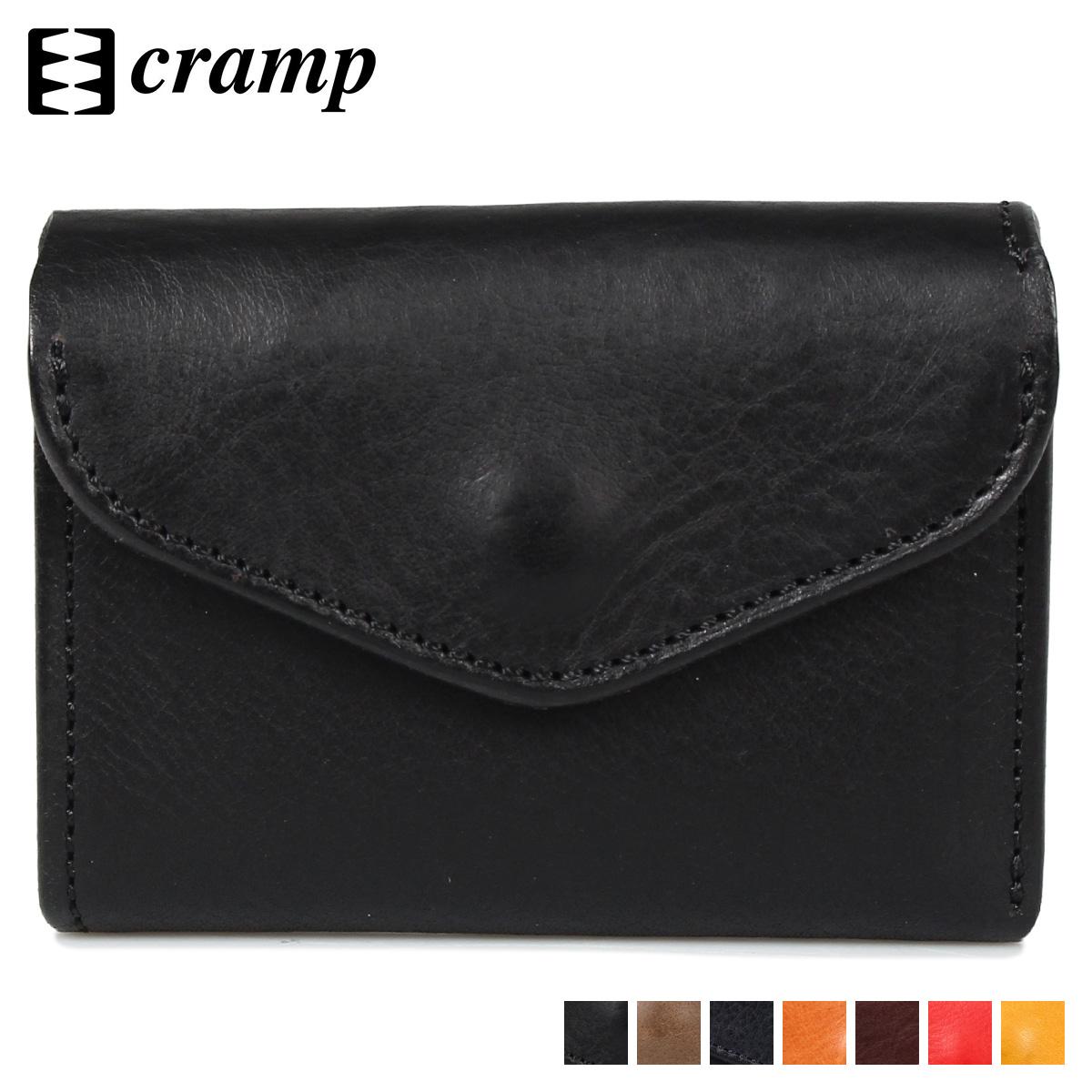 cramp クランプ 財布 二つ折り ミニ財布 メンズ COMPACT WALLET ブラック グレー ネイビー ダーク ブラウン レッド イエロー 黒 CR-170
