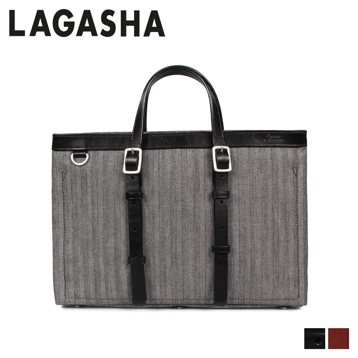 LAGASHA ラガシャ アール&ディー バッグ トートバッグ メンズ R&D ブラック ダーク ブラウン 黒 7493