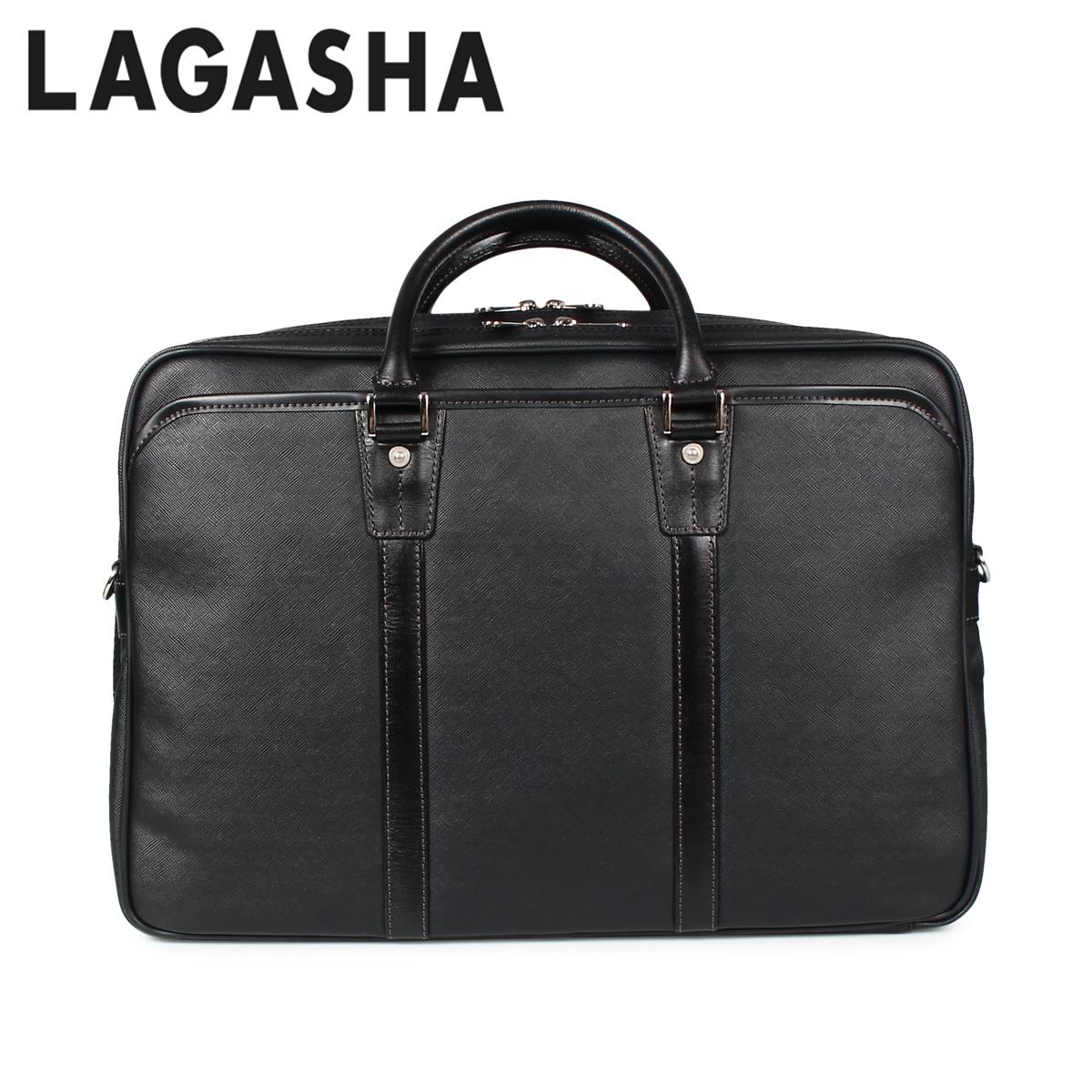 LAGASHA ラガシャ クアドロ バッグ ビジネスバッグ ブリーフケース メンズ QUADRO ブラック 黒 7718